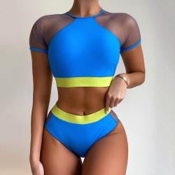 Blue sportswear bikini