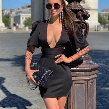 Sexy dress with plunging neckline
