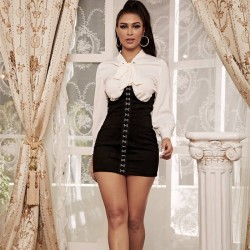 Shirt corset dress