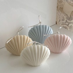 Minimalist aesthetic scented seashell candle
