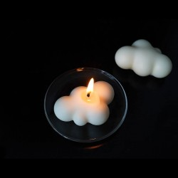 Minimalist lightly scented cloud candle