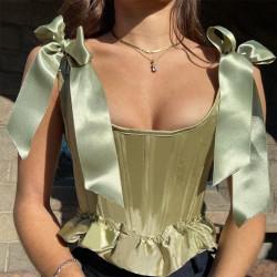Top corset vert
