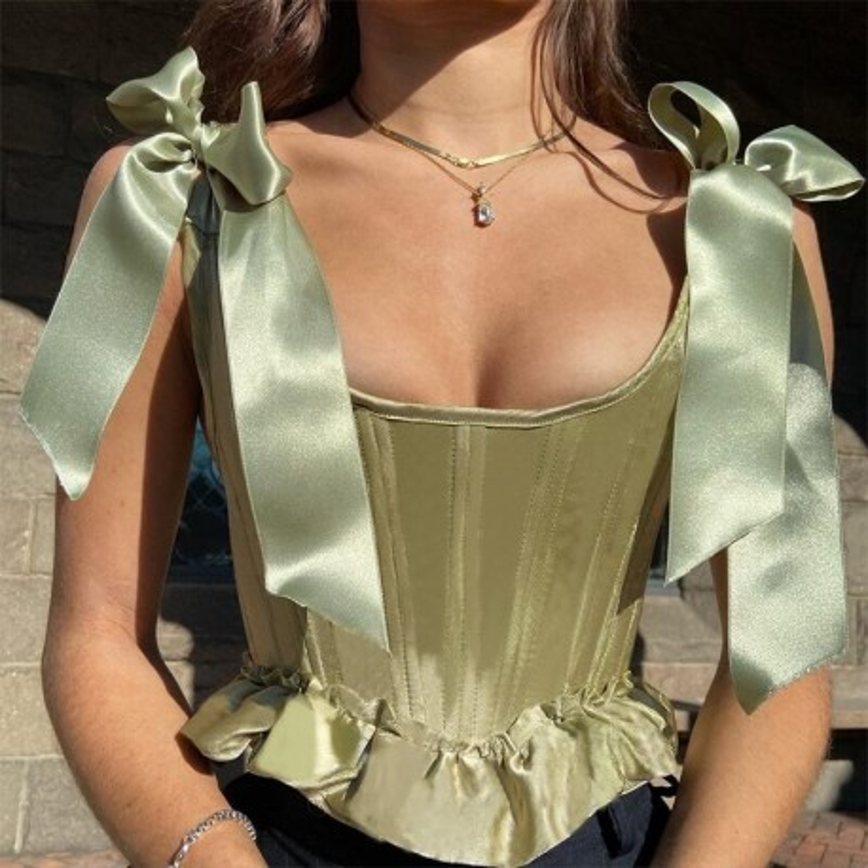 Green corset top