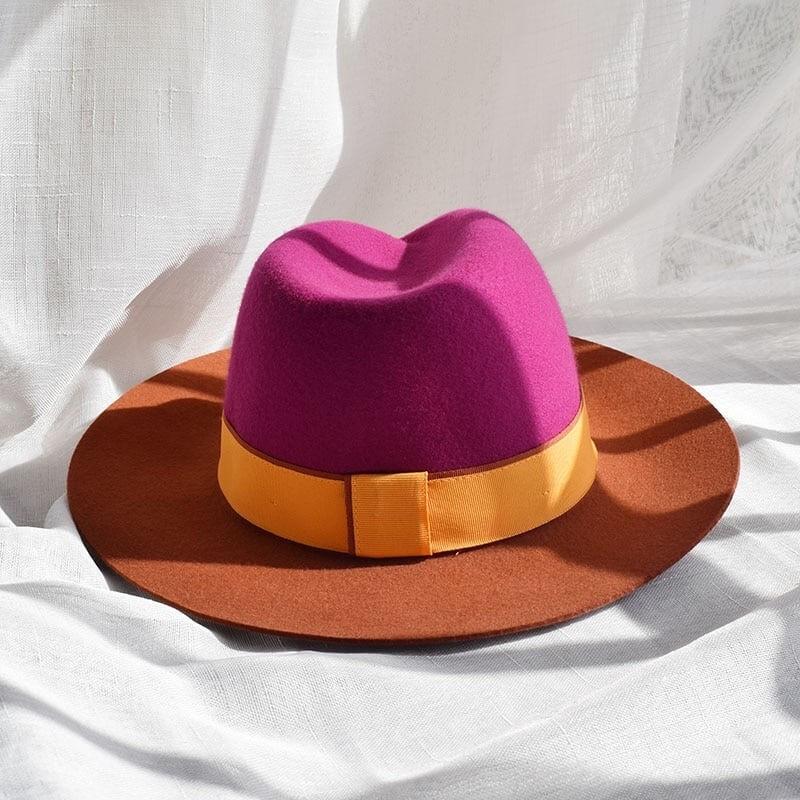 Chapeau fedora tricolore