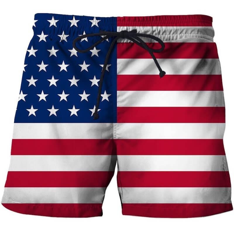 USA flag swim shorts