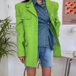 Apple green blazer