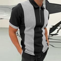 Men's zipper polo shirt