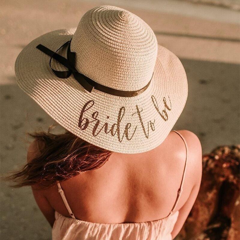 Chapeau de paille BRIDE TO BE, chapeau enterrement de vie de jeune fille
