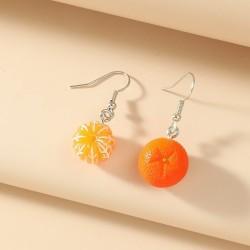 Boucles d'oreille fruit orange