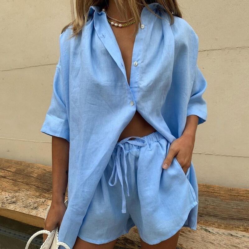 Ensemble chemise et short style pyjama