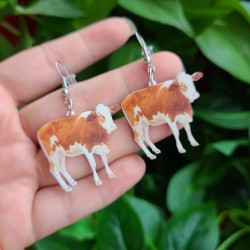 Cow earrings
