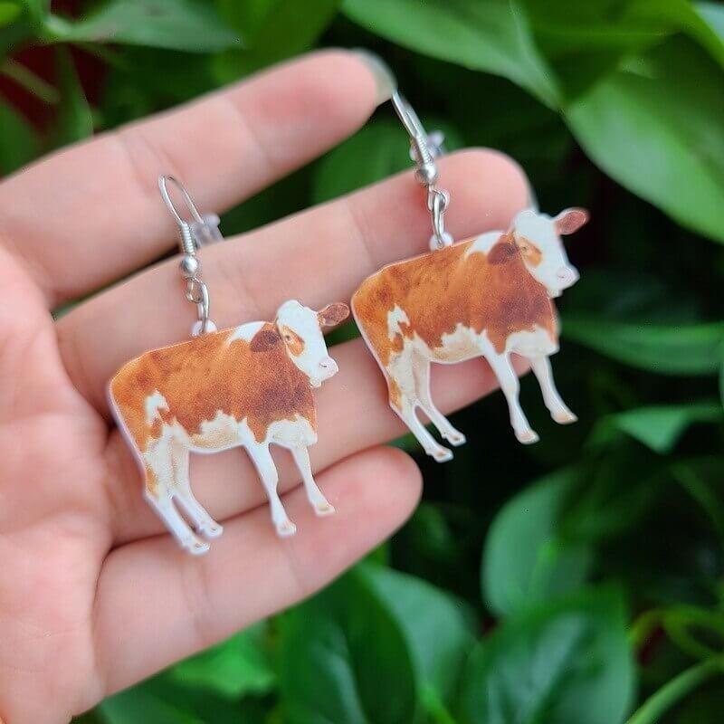 Boucles d'oreille vache