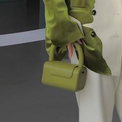 Small olive green handbag