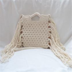 Tassel crochet tote