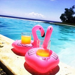 Flamingo inflatable cup holder