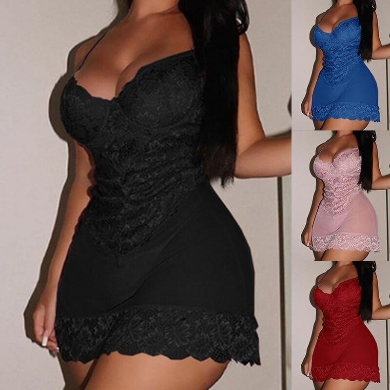 Plus size lace nightie