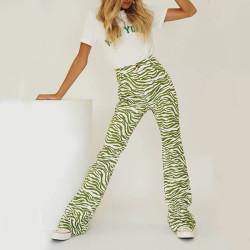 Green zebra pants