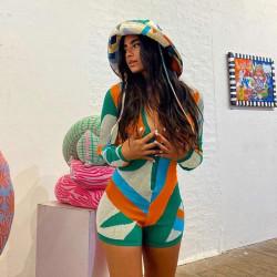 Multicolor playsuit
