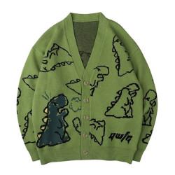 Army green dinausor cardigan