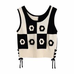 Floral sweater vest