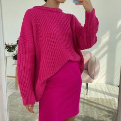 Fuchsia pink oversized sweater