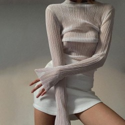 Long sleeves see through top