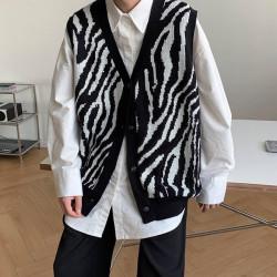 Men's zebra sweater vest