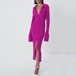 Ribbed cardigan dress
