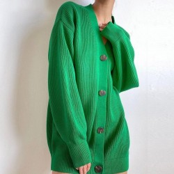 Oversized green cardigan