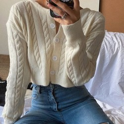 Twisted cropped cardigan