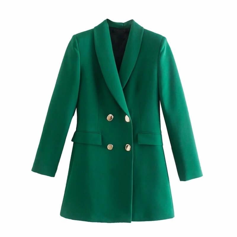 Green blazer dress