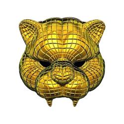 Golden tiger Squid Game mask