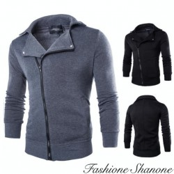 Oblique zipper casual Jacket